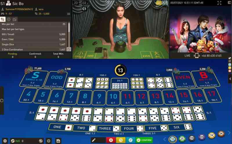 Play Real Money Sicbo Happyluke India - Happyluke-Gameplay Interactive
